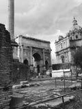 Ruins at Forum Romano Stock Photos