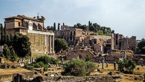 Forum Romanum. The ruins of the Forum Romanum in Rome, Italy Royalty Free Stock Photos