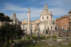 Forum Romanum. Ruins of Forum Romanum, Rome, Italy Stock Images
