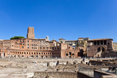 Ruins of a forum of Trajan.Italy. Rome. Royalty Free Stock Images