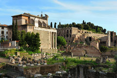 Ruins of the Forum of Trajan, Rome Stock Image