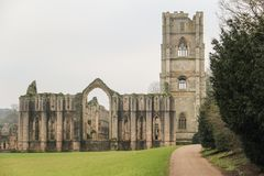 Ruins of Fountains Abbey England UK royalty free stock photos