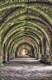 Ruins Of Fountains Abbey. Old monastery ruins of Fountains Abbey in Yorkshire Stock Image
