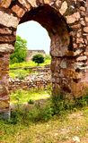 Ruins fragment of Tughlaqabad Fort in Delhi India Stock Photography