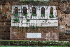 Ruins of funeral monument Royalty Free Stock Image