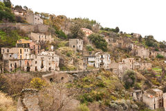 Ruins of Gairo in Sardinia 2 Royalty Free Stock Photography