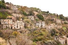 Ruins of Gairo in Sardinia 2 Royalty Free Stock Photography