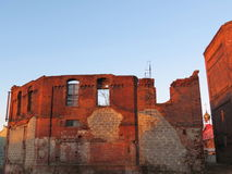 Ruins of gaseous factory in Klaipeda Stock Image