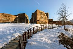 Ruins of Gate of Trajan Trajanovi Vrata, Bulgaria Royalty Free Stock Photography