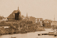 Ruins of Gdansk Royalty Free Stock Photo