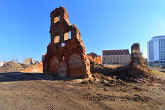Ruins in Gdansk Royalty Free Stock Images