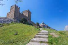 Ruins of The Genoa Fortress in Sudak, Stock Photography