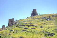 The ruins of the Genoese fortress stock photography