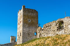 The Ruins of Genoese fortress in Feodosia, Crimea Royalty Free Stock Images