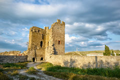 The ruins of Genoese fortress in Feodosia, Crimea Stock Image