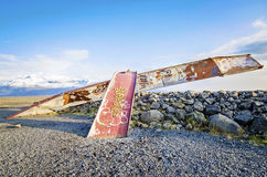 Ruins of Gigjukvisl Bridge Iceland Royalty Free Stock Image
