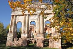 Ruins of the Gilzen's and Shadurski's palace Stock Image