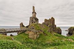 Ruins of Girnigoe castle, Caithness, Scotland royalty free stock photography