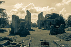Ruins of Glastonbury Abbey L Royalty Free Stock Image