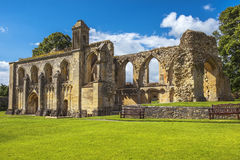 Ruins of Glastonbury Abbey, Somerset, England Royalty Free Stock Photos