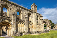 Ruins of Glastonbury Abbey, Somerset, England Stock Image