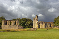 Ruins of Glastonbury Abbey, Somerset, England Stock Image