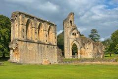 Ruins of Glastonbury Abbey, Somerset, England Stock Photos
