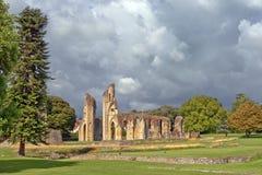 Ruins of Glastonbury Abbey, Somerset, England Stock Photography