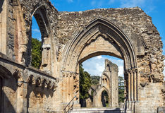 Ruins of Glastonbury Abbey, Somerset, England Royalty Free Stock Photography