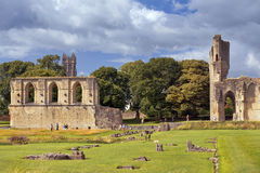Ruins of Glastonbury Abbey, Somerset, England Royalty Free Stock Photos
