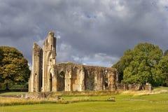 Ruins of Glastonbury Abbey, Somerset, England Royalty Free Stock Image