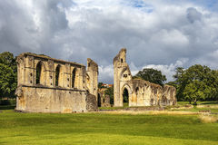 Ruins of Glastonbury Abbey, Somerset, England Royalty Free Stock Images