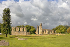 Ruins of Glastonbury Abbey, Somerset, England Royalty Free Stock Photography
