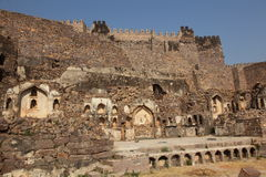 Ruins of the Golconda Fort, Hyderabad Royalty Free Stock Image