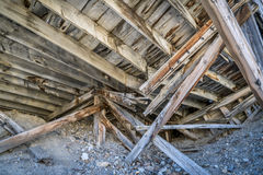 Ruins of gold mine in Rocky Mountains Royalty Free Stock Photos