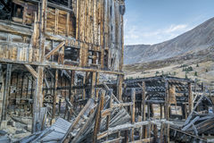 Ruins of gold mine in Rocky Mountains Stock Photo
