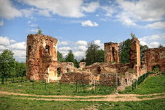 Ruins of Golshany castle in Belarus Stock Photography