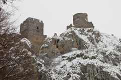 Ruins of Golubac fortress Royalty Free Stock Image