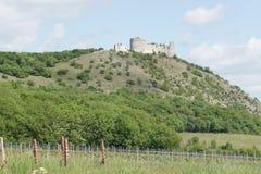 Ruins of gothic castle Děvičky, Czech republic Stock Photo