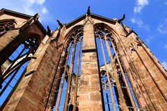 The ruins of the Gothic church. Bacharach Stock Photo