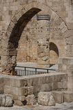 Ruins of Gothic church in the historic centre of Rhodes town. Rhodes island, Greece Stock Photography