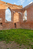 Ruins of gothic church from a red brick Stock Photo