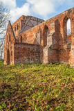 Ruins of gothic church from a red brick Royalty Free Stock Photos