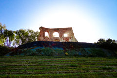 The Ruins of gothic church from 14/15th centur in Trzesacz, Poland. Ruins of gothic church from 14/15th century located in Trzesacz (Poland, Europe) near the Royalty Free Stock Image