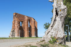 Ruins of gothic church from 14/15th century located in Trzesacz near the Baltic Sea. Stock Images