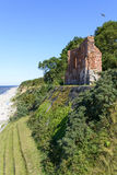 Ruins of gothic church from 14/15th century located in Trzesacz near the Baltic Sea. Stock Photo