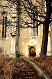 Ruins of gothic church. The ruins of a gothic church in Vingard village, Romania Royalty Free Stock Photos