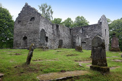 Ruins of Gothic old cemetery, Scotland Stock Images