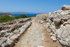 Ruins of Gournia, Crete, Greece Royalty Free Stock Photo