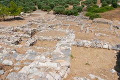 Ruins of Gournia. Crete, Greece Royalty Free Stock Photo
